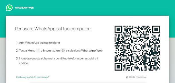 Come accedere a WhatsApp Web senza telefono