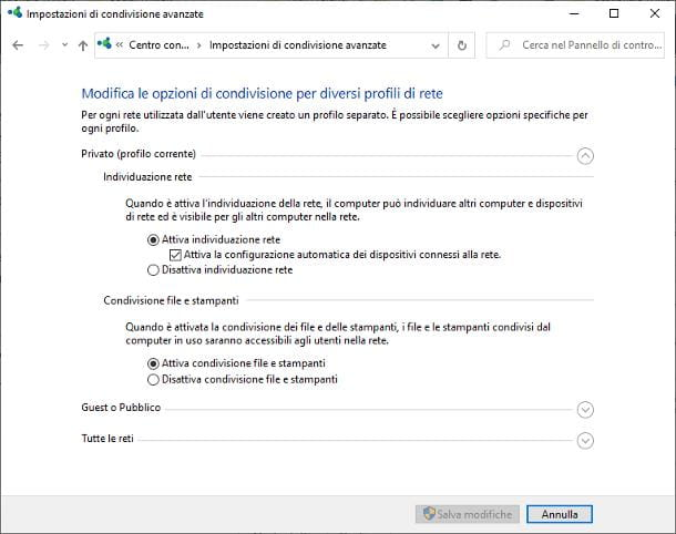 Come configurare rete Ethernet Windows 10