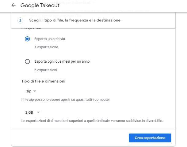 Come funziona Google Takeout