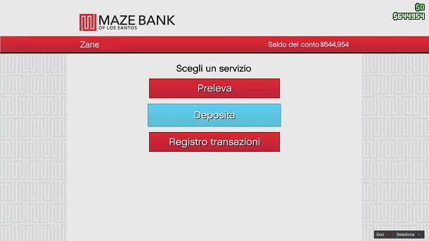 Deposita ATM GTA Online