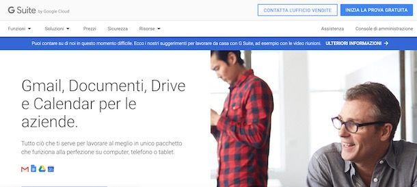 Come creare un account Google Suite
