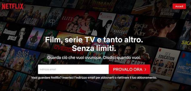 Come attivare Netflix condiviso