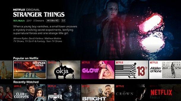 Navigare nel catalogo Netflix