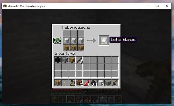 Letto Minecraft