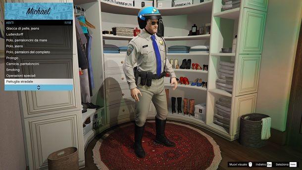 GTA 5 uniforme polizia