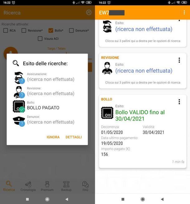 App per verifica pagamento bollo