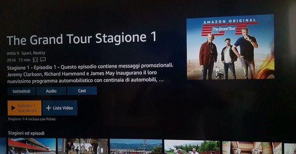 The Grand Tour Amazon prime Video PS4