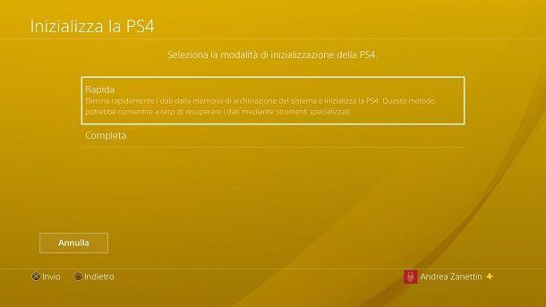Come formattare la PS4