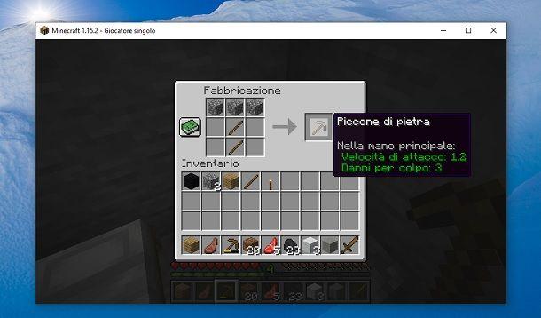 Piccone di pietra Minecraft