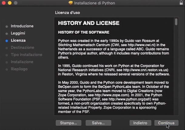 L'installazione di Python 3 su Mac