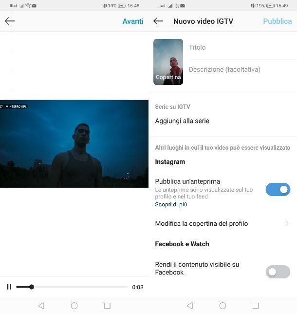 Condividere video YouTube su IGTV