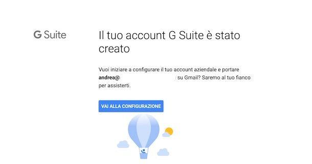 Configurare account G Suite