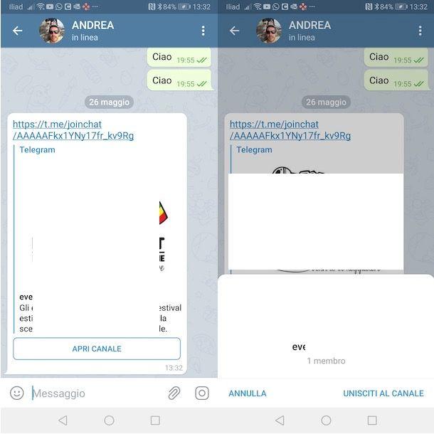 Come entrare in un canale Telegram privato