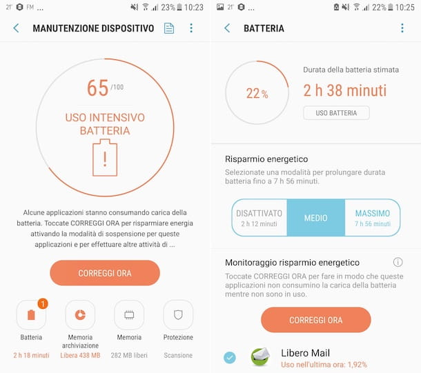 Funzione predefinita batteria Android
