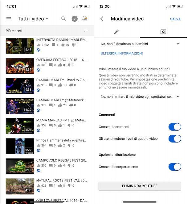 Come attivare i commenti su YouTube da smartphone e tablet