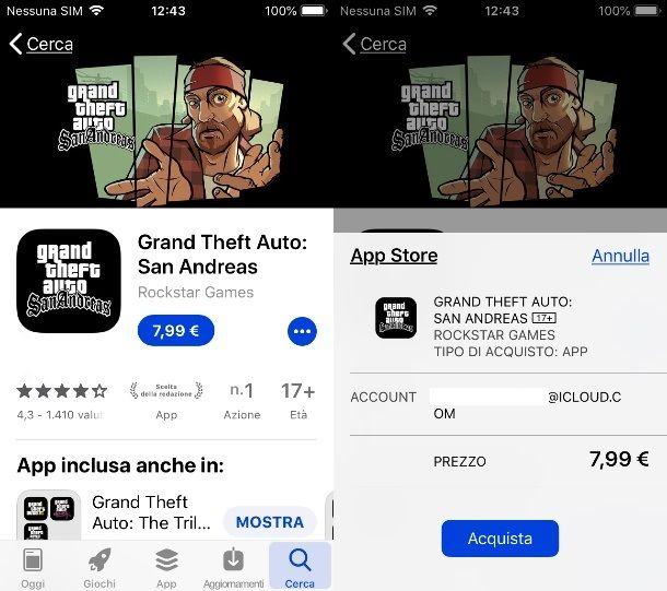 GTA San Andreas su iPhone