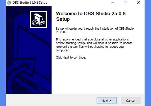 Installare OBS