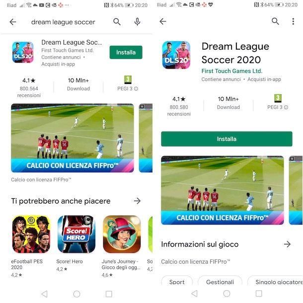 Come scaricare Dream League Soccer su Android