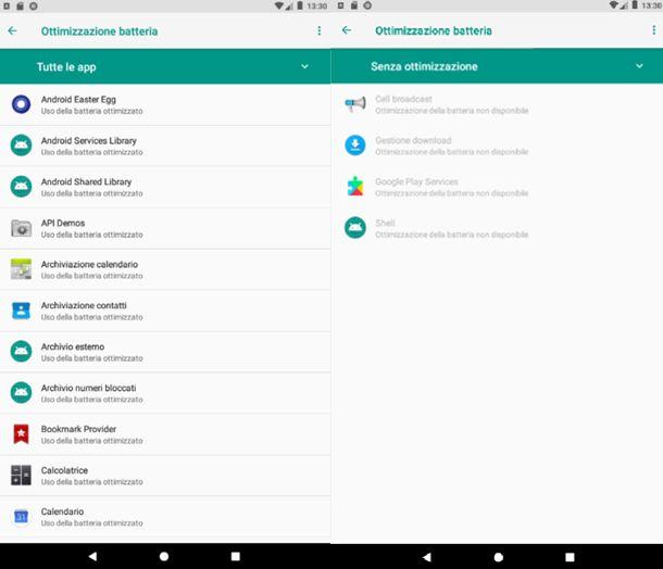 Ottimizza lo stato della batteria su Android 8