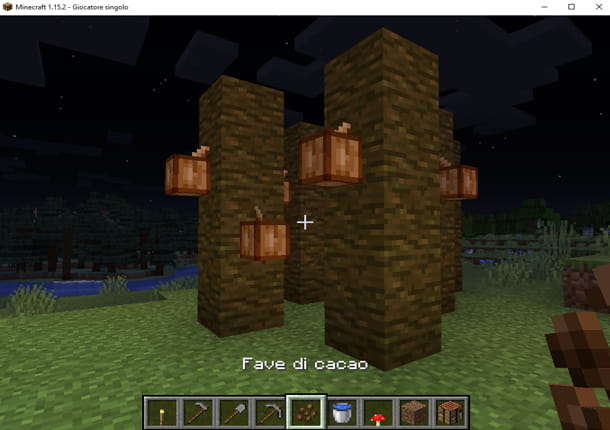 Coltiva il cacao in Minecraft