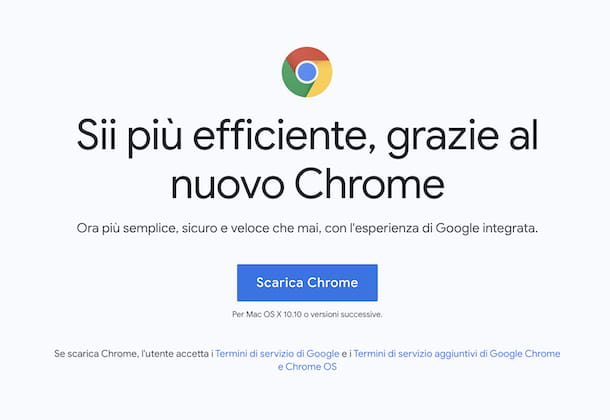 Download Chrome su Mac
