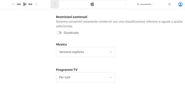 Togliere restrizioni Apple Music da browser