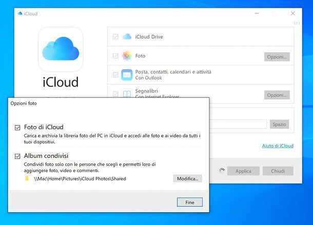 iCloud per Windows