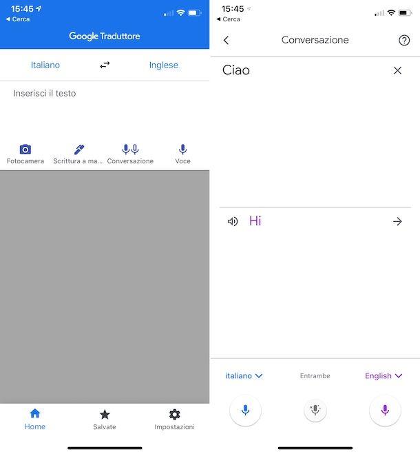 Google Traduttore iOS