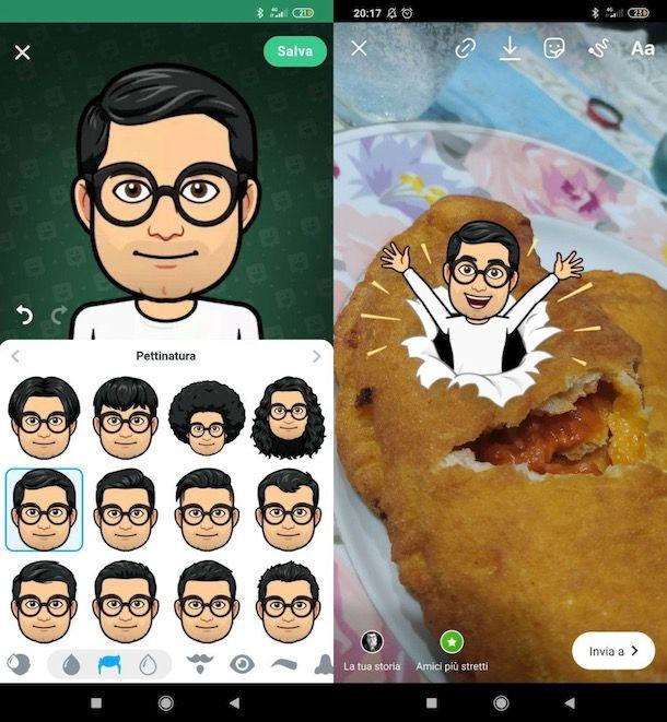 Mettere Memoji su Instagram Android