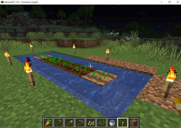 Pianta il grano in Minecraft