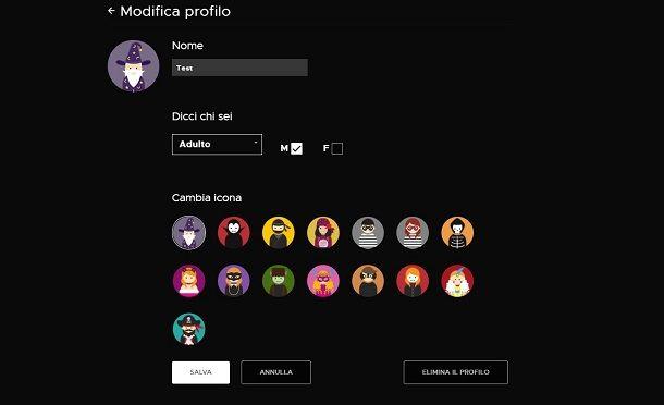 Infinity+ profilo