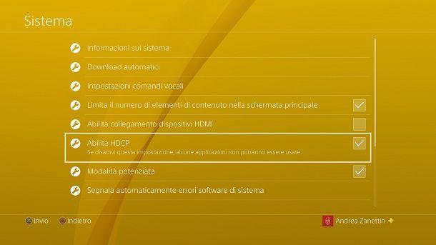 HDCP PS4