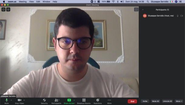 Attivare microfono Zoom su client desktop