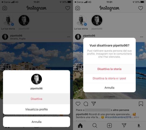Come nascondere le storie di Instagram degli altri