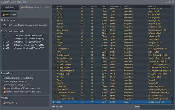 Abilitare plugin FL Studio