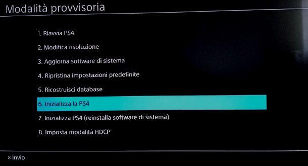 Come formattare la PS4 in modalita provvisoria