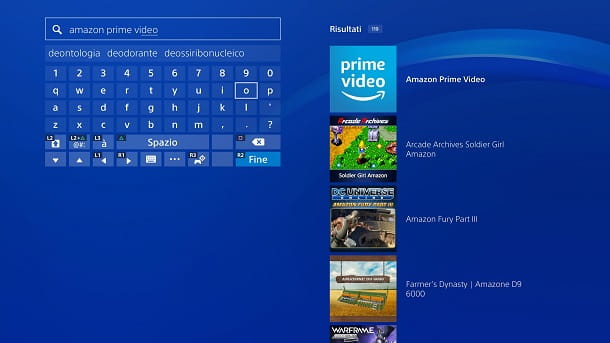 Amazon Prime Video PlayStation Store