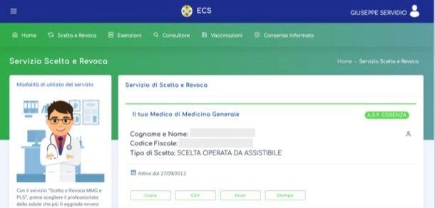 Cambiare medico di base online