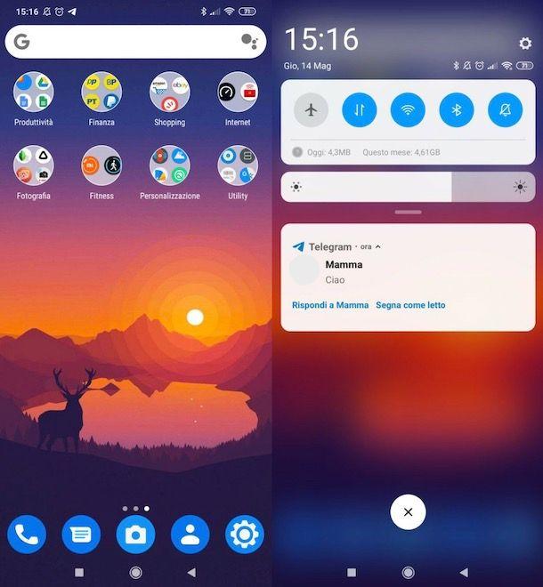 Leggere messaggi Telegram dalla tendina delle notifiche Android
