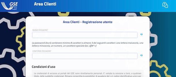 Registrazione su GSE