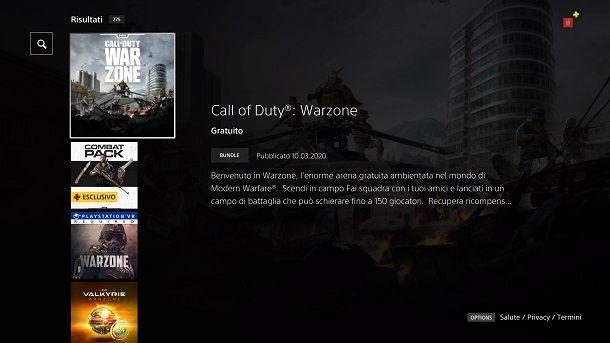 Come installare Call of Duty Warzone PS4