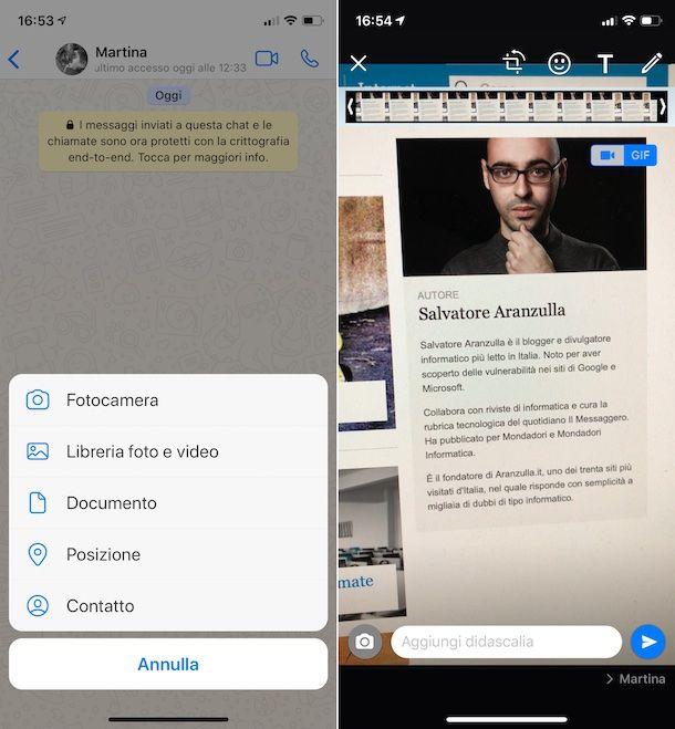 Creare GIF su WhatsApp da iPhone