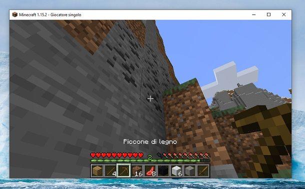 Carbone esterno Minecraft
