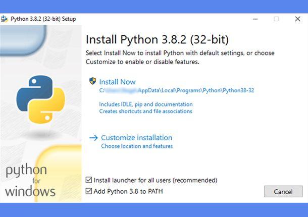 L'installazione di Python 3 su WIndows