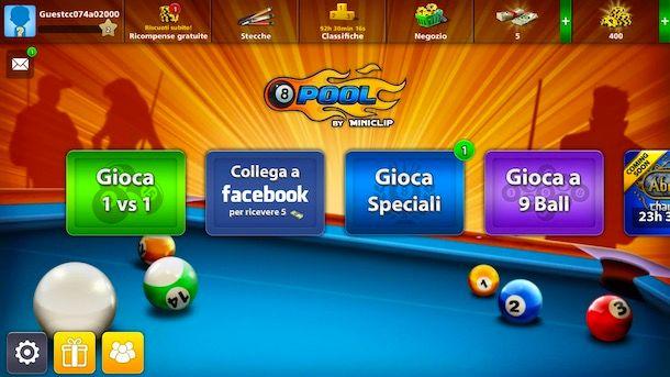 Cambiare nome su 8 Ball Pool