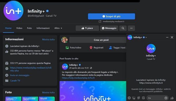 Facebook Infinity+