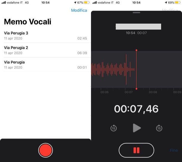 Memo Vocali iOS
