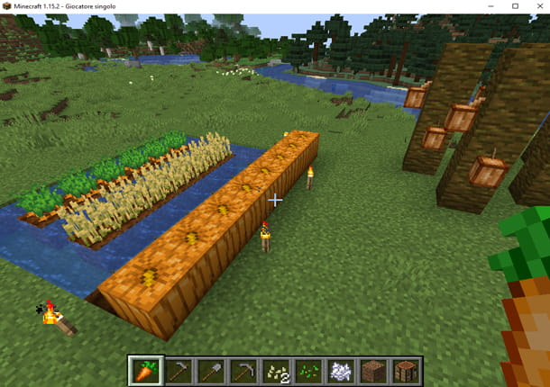 Un orto in Minecraft