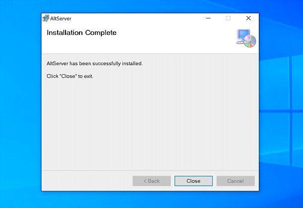 Installazione AltServer