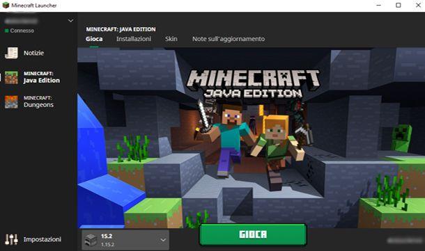 Riavvia Minecraft